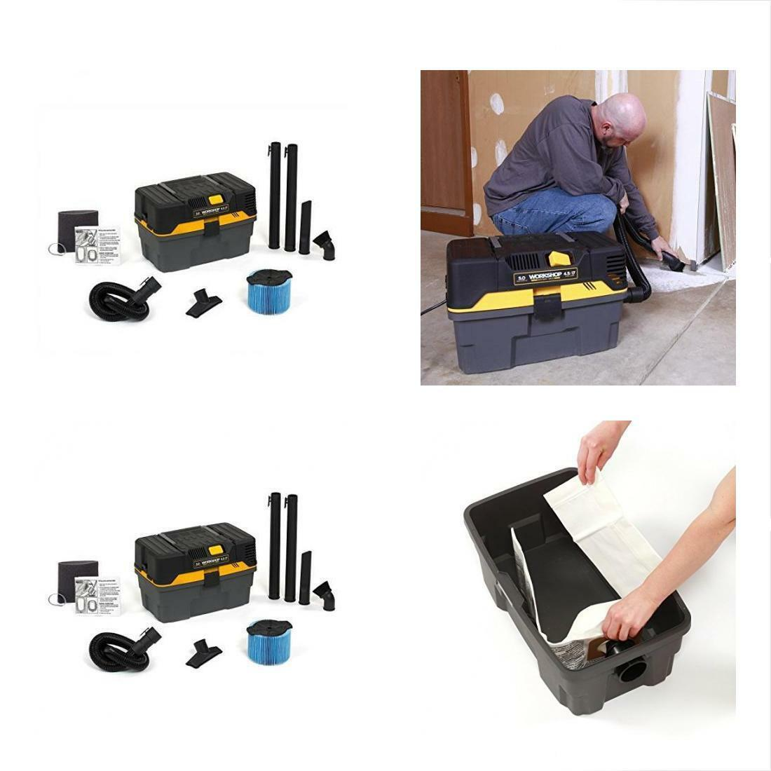 WORKSHOP WetDry Vacuums Wet WS0450VA Compact And Portable Cleaner For Cars Auto