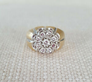 Mens-14k-YG-Diamond-Cluster-Ring-92-ct