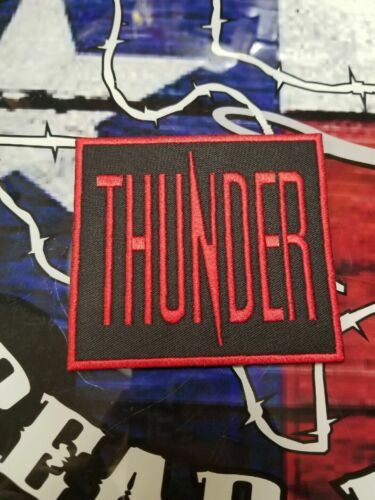 EMBROIDERED THUNDER HARD ROCK BAND PATCH