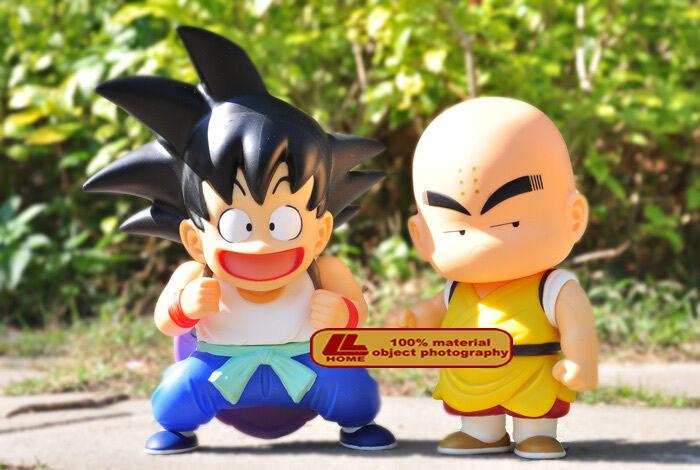 NEW ANIME Dragon Ball Z SON GOKU & Kuririn 2pcs 7  FIGURES SET TOY GIFT
