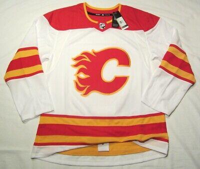 CALGARY FLAMES size 60 = 3XL 2021 Away White Road Adidas Aeroready Hockey Jersey | eBay