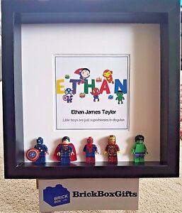 Children Superheroes Lego 3D Minifigure frame customise name Spiderman marvel - Doncaster, United Kingdom - Children Superheroes Lego 3D Minifigure frame customise name Spiderman marvel - Doncaster, United Kingdom