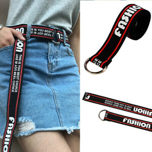 Women-Harajuku-Belt-Punk-Street-Letter-Printed-Double-D-Ring-Canvas-Long-Belt-sp