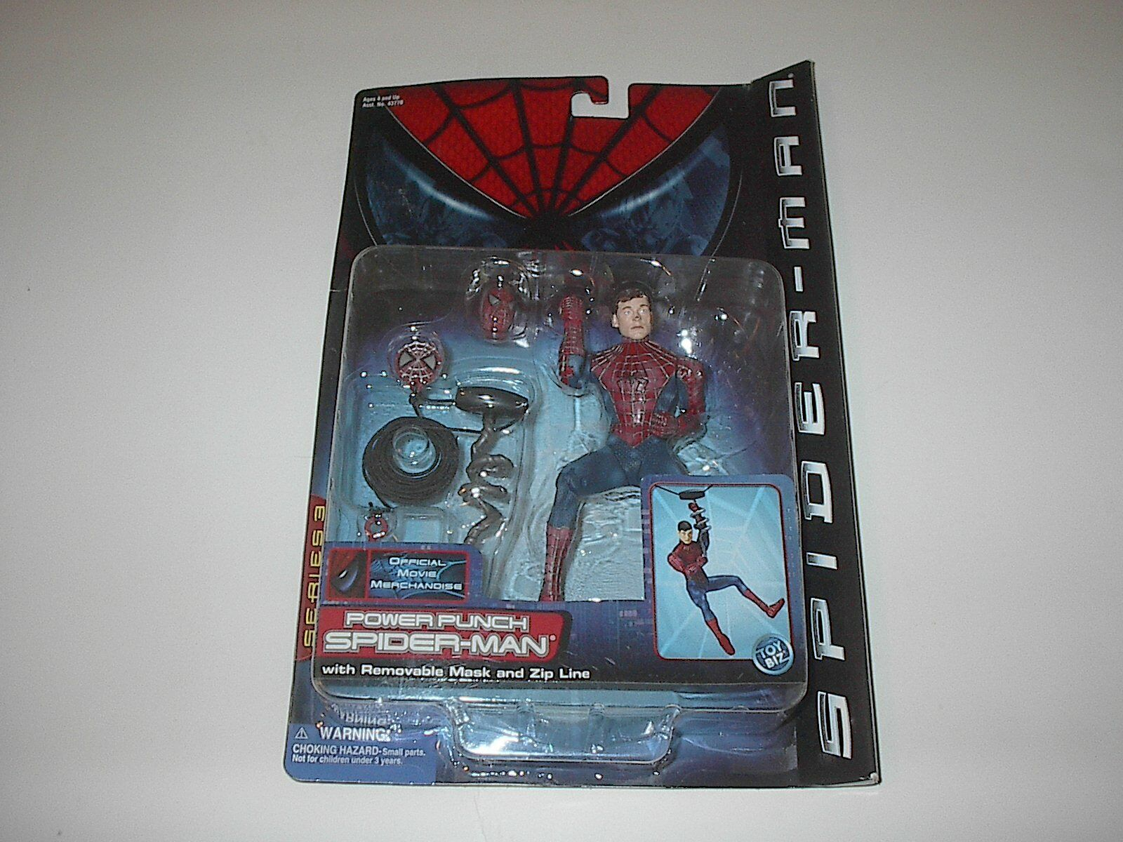 Juguetebiz Marvel Spiderman Película Power Punch Hombre Araña Serie 3 2002 Nuevo