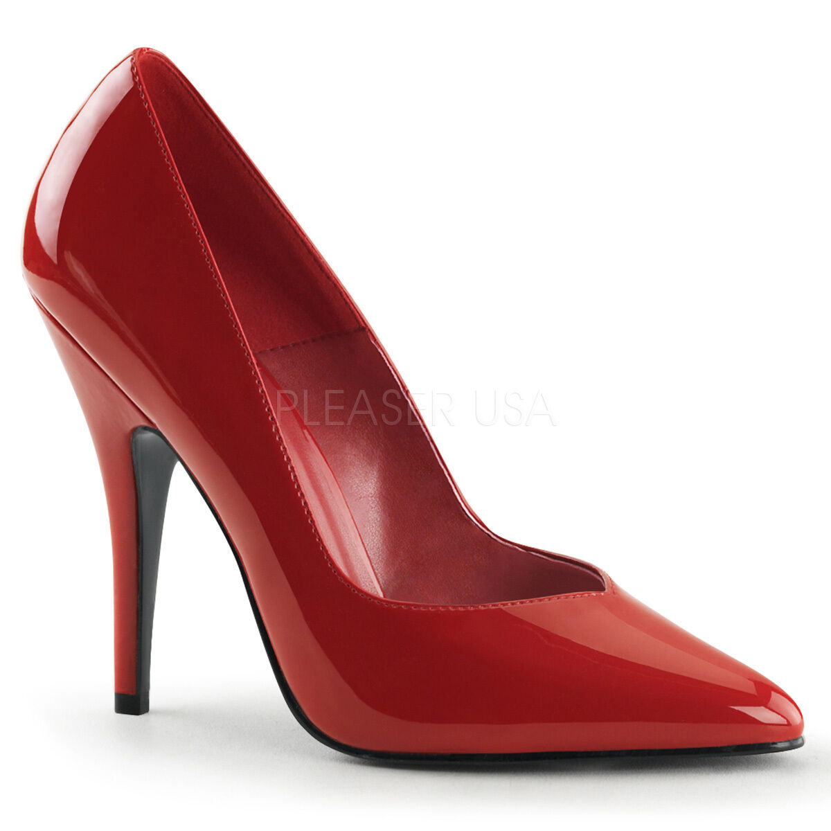 PLEASER 8220 R Sexy 5  High Heels Red Shiny Women's Classic Red Pumps shoes