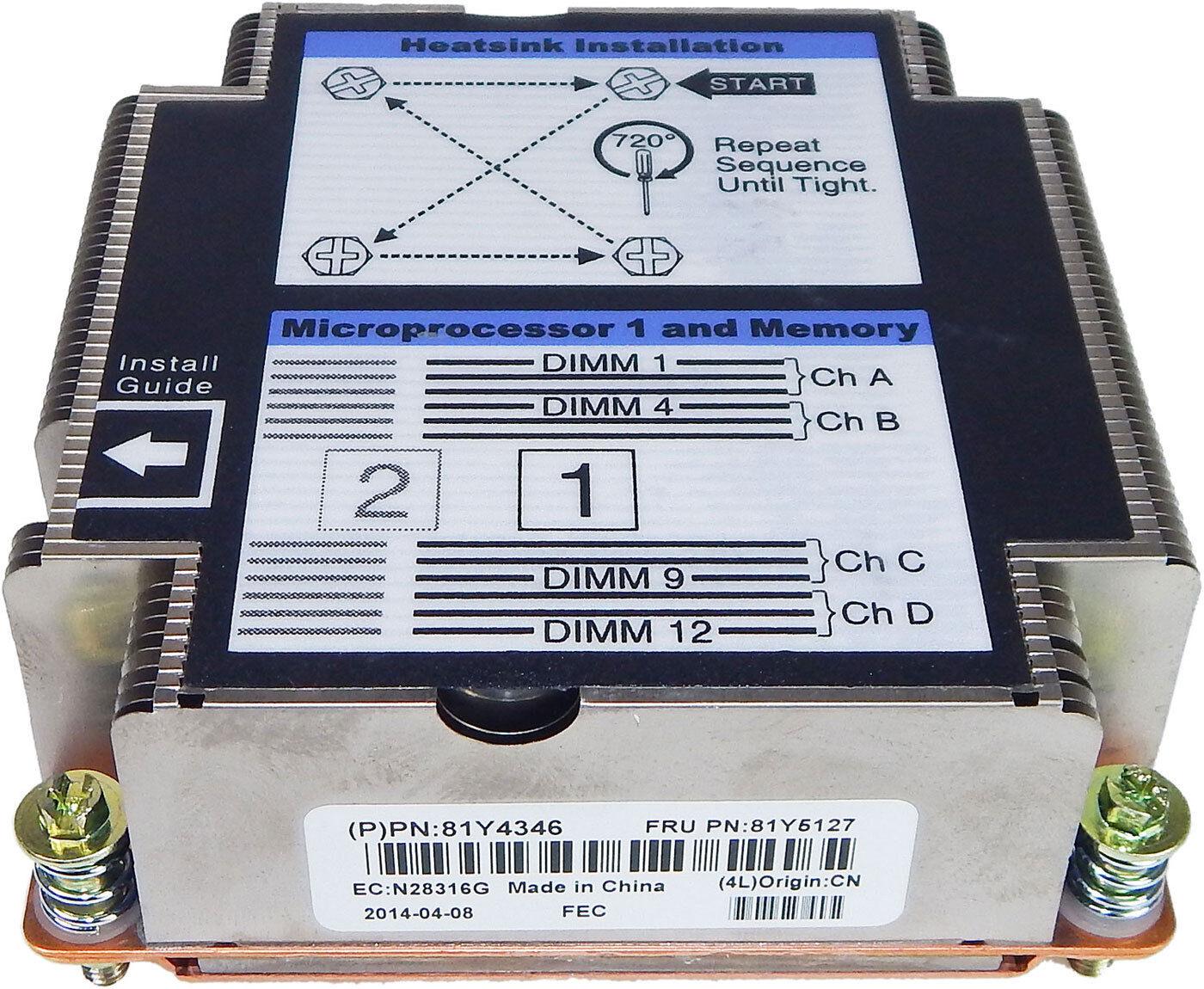 IBM Flex System X240 CPU-1 Heatsink 81Y4346 81Y5127