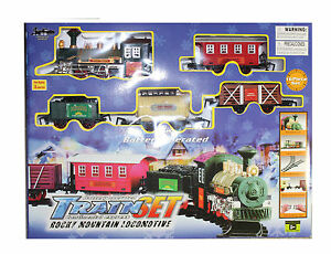 DELUXE-Train-Set-Tracks-Lights-and-Sound-Toy-Battery-Operated-30-034-x-53-034-Track