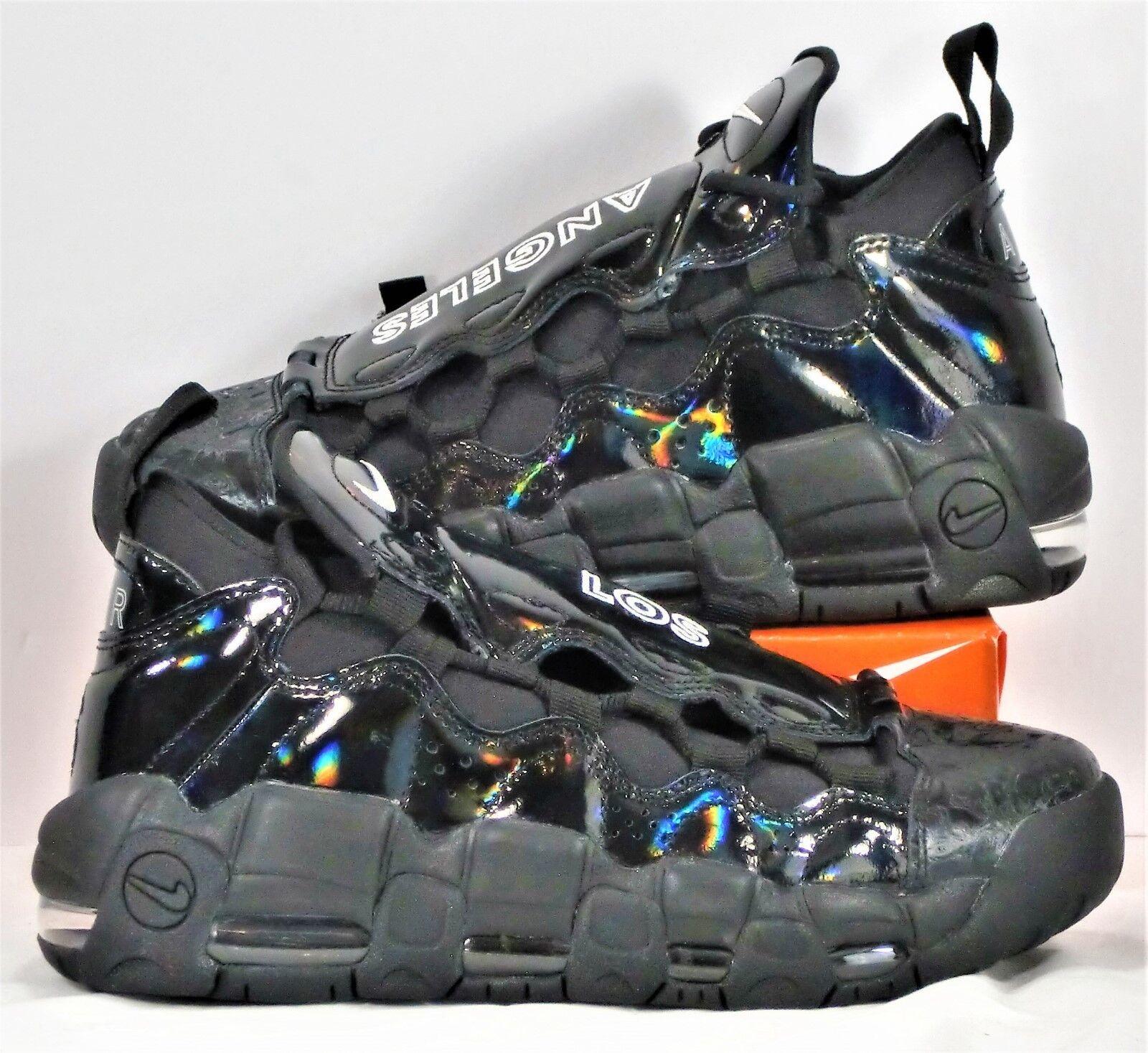 Nike air piu 'soldi lx ritmo bianco nero scarpe da basket sz 6 nuovi aj1312 002