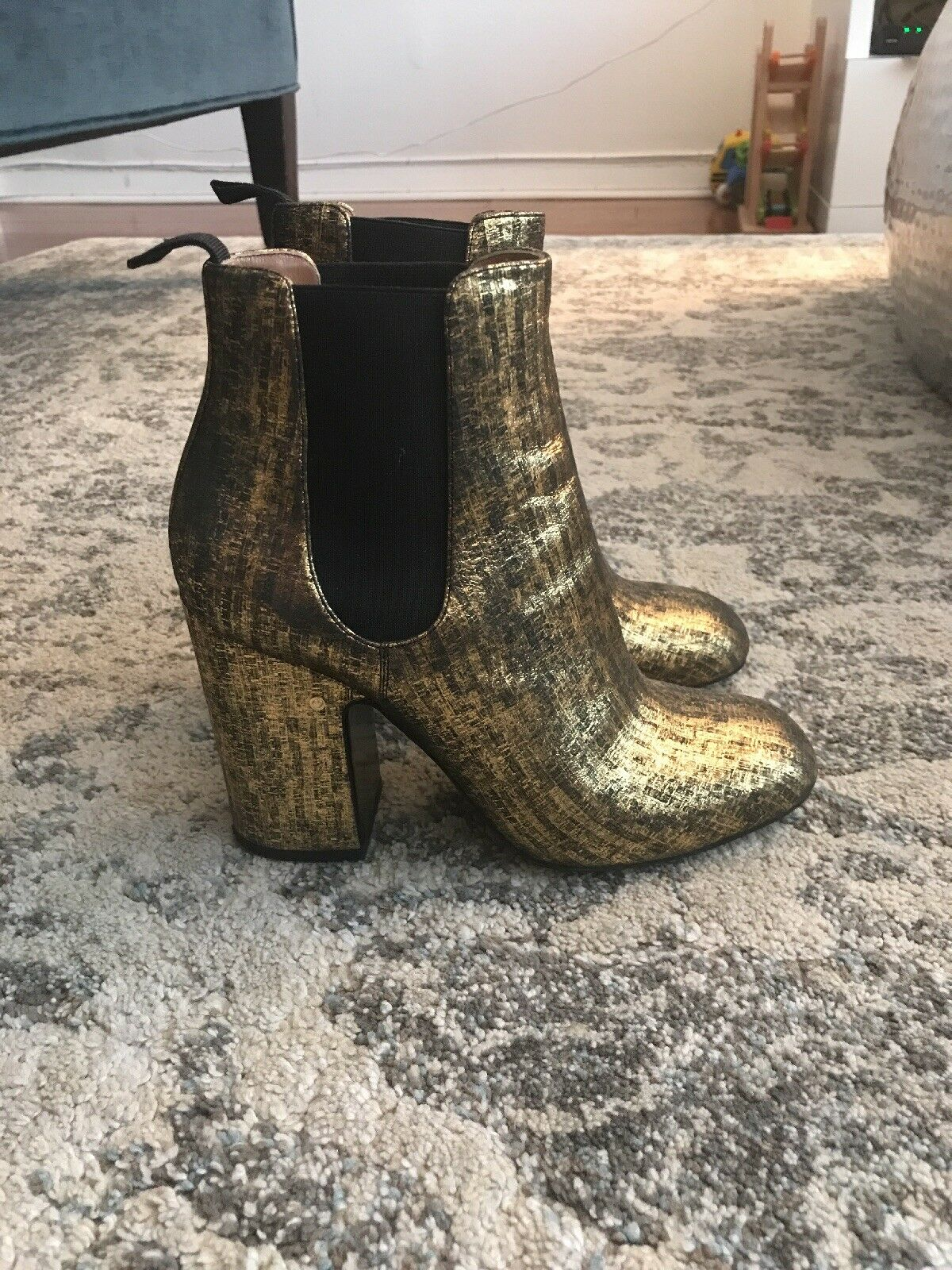LAURENCE DACADE Mila metallic brushed-leather ankle boots boots boots b3c00b