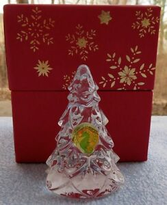 Waterford Crystal Figural Small Christmas Tree Figurine New in Box
