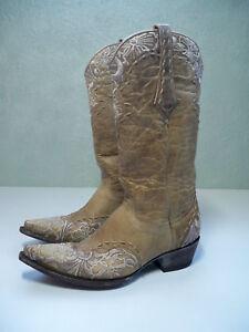644757d00076f Details about Old Gringo Ladies SZ 7 Erin Vesuvio Bone Western Wedding  Boots L640-3 EXCELLENT
