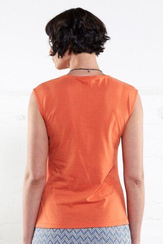NOMADS Organic Cotton Sleeveless Jersey Vest Top T-Shirt PJ4004 ORANGE