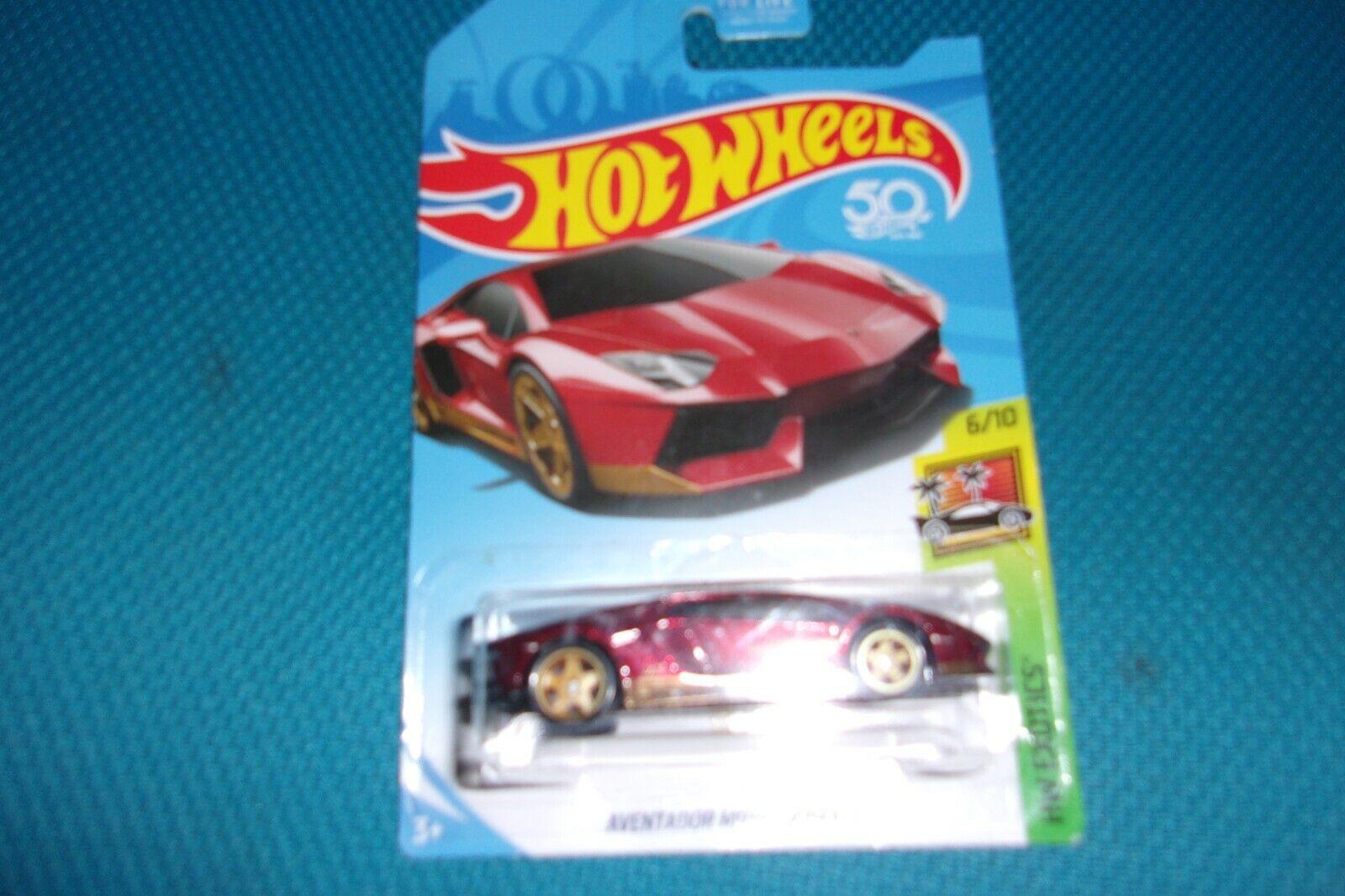 Hot Wheels Aventador Miura homenaje súper Th