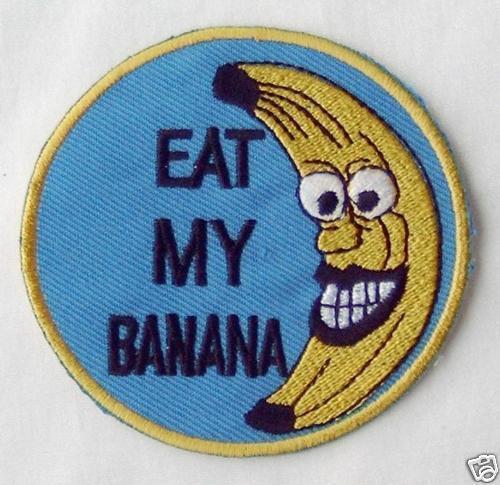 Ricamate patch Eat My banana GIACCA MOTO Aufbügelbar