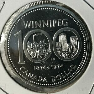1974-CANADA-SILVER-DOLLAR-WINNIPEG-BRILLIANT-UNCIRCULATED-CROWN