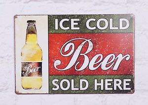 Ice-Cold-Beer-Bar-Tin-Metal-Signs-Beer-Vintage-Poster-Home-Pub-Wall-Decor