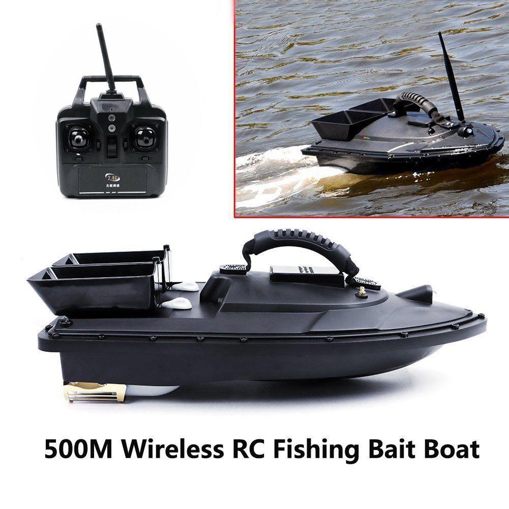 500M Wireless RC Fishing Bait Boat 2 Motors Fish Finder Single Hand Control UK