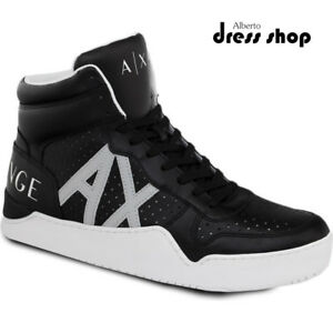 79b1e5955ad4 Image is loading Shoes-Sneaker-High-Higt-Cut-A-X-Armani-Exchange-