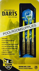 Licensed-NRL-Rugby-League-PARRAMATTA-EELS-Darts-Set-includes-6-Flights-amp-Case