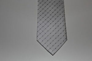 Bianco Nero Cravatta Quadri Nuovo Conf Cm Seta 150 La Orig Annodare Uomini 41wqH0
