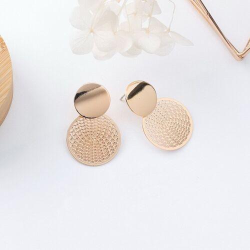 Fashion Women Heart Round Tassel Hollow Earrings Jewelry Ear Stud Gift New