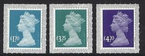 GREAT BRITAIN 2021 3 NEW MACHIN DEFINITIVES UNMOUNTED MINT, MNH