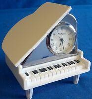 WILLIAM WIDDOP MINIATURE BABY GRAND PIANO CLOCK - MODEL MUSICAL INSTRUMENT 9650