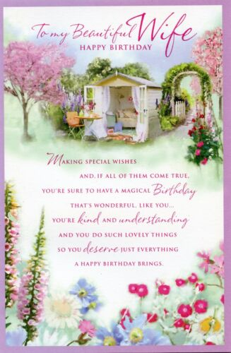 WIFE BIRTHDAY FANTASTIC QUALITY 2 DESIGNS TO CHOOSE FROM