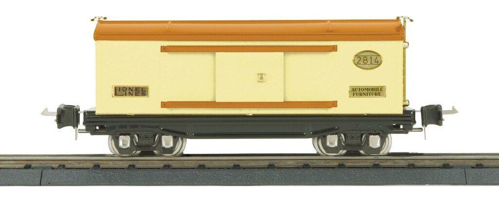 Lionel 1 48 O Scale 2814 Series Box Car Cream orange w  Brass Trim