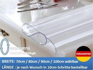 Tischfolie PVC Tischdecke Schutzfolie 70//80//90//100 cm Transparent  2 mm