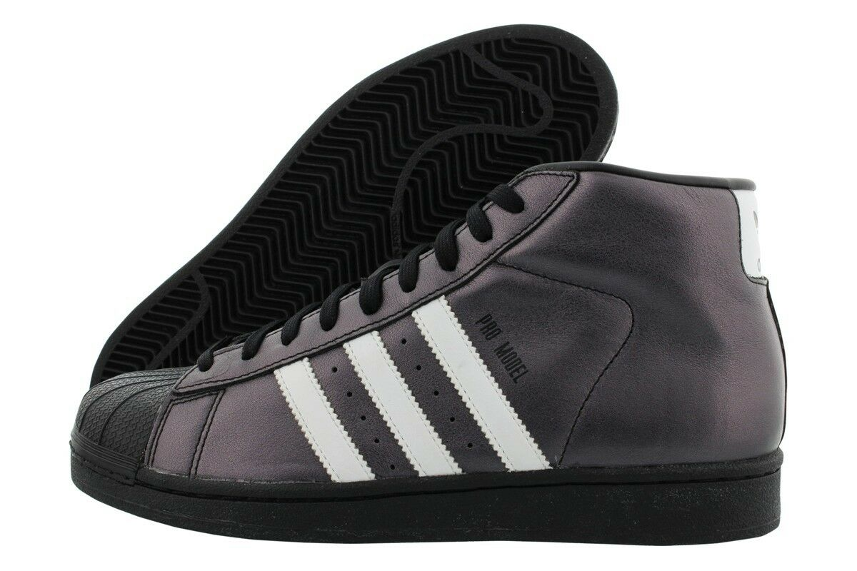 8869ceaf5 Adidas Pro Model S75850 Black Pearl Coat White Men SZ 7.5 - 13 Retail 110