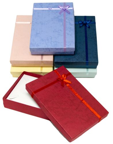 Novel Box™ Cardboard Jewelry Gift Boxes With Rosebug Bows in Assorted Colors
