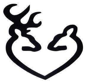 buck and doe deer heads car or truck decal ebay