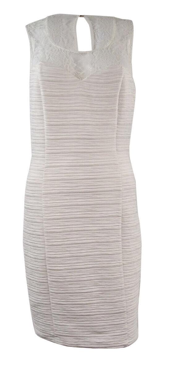 Guess Guess Guess Women's Laced Sweetheart Sheath Dress (14, Ivory) 079e32