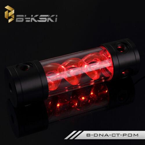 LED Bykski T-Virus Reservoir Helix Suspension Water Cooling Tank 180mm 260mm