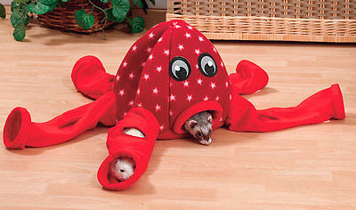 Marshall Ferret Cage Octoplay Octo-Play Octopus Bed Tunnel Toy