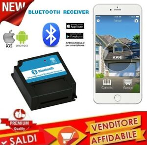 Apricancello-Bluetooth-4-0-per-Smartphone-iPhone-e-Android-cancelli-porte-garage
