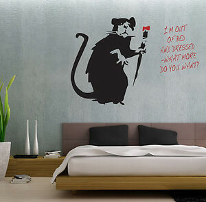 Image Is Loading BANKSY STYLE I 039 M OUT OF BED