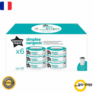 30 Lingettes antibactériennes Tommee Tippee SANGENIC Lot de 6 recharges