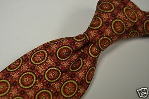 Hermes-Circular-Red-Spiral-Abstract-Motif-100-Silk-Tie-Made-in-France-7793-FA