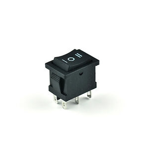 10pcs rocker switch 6 pin 250v6a 125v10a 3 way power button ebay. Black Bedroom Furniture Sets. Home Design Ideas