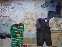 Winter Used Nice 54 Next Gap Debenhams Bundle Baby Boy Clothes 0/3 Mths (8)