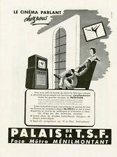 """""""PALAIS DE LA T.S.F."""" Annonce originale entoilée années 50 26x35cm"""