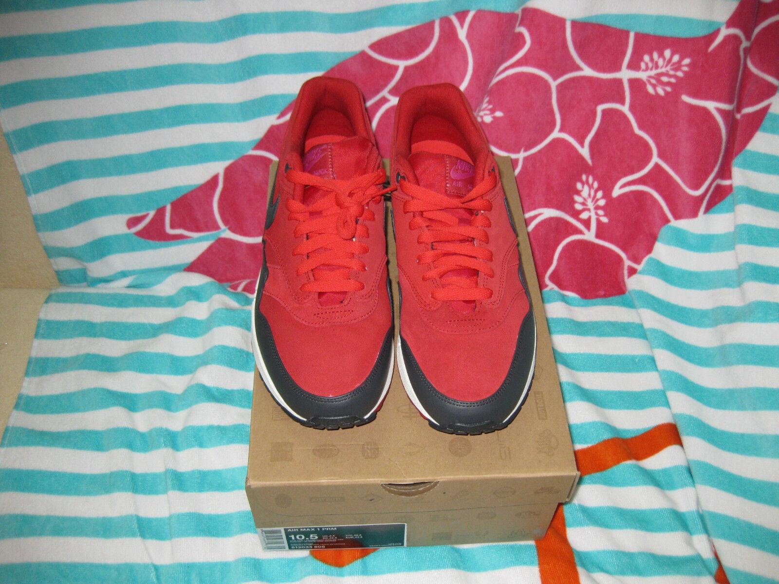 Nike air max 1 premio 512033 606 heron gr / noi noi / 10,5 neu morto stock bc323a