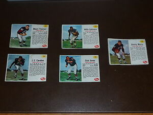 5-DIFF-1962-POST-CEREAL-FOOTBALL-BEARS-CARDS