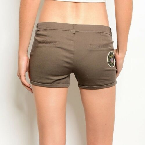 M New Military Army Shorts With Patches by Nylon Apparel Size S