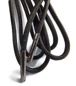 5mm-Negro-Redondo-Extra-Fuerte-Metal-Con-Punta-Cordones-Botas-Zapatos-Senderismo-B3G1F