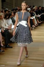 COLLECTIBLE ICONIC SENSATIONAL Oscar De La Renta R'7 black/white polka dot dress