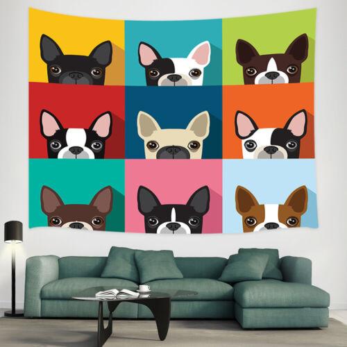 Cartoon dog avatar Shower Curtain Bathroom Decor Fabric /& 12hooks 71 Inch