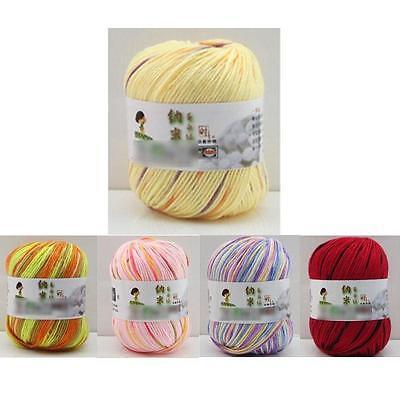 Fibroin Wool Cashmere Craft Silk Wool Skein Fiber Ball Knitting Crocheting Yarn